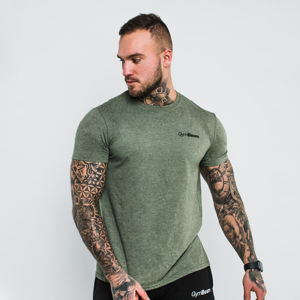 GymBeam Tričko Basic Heather Military  L