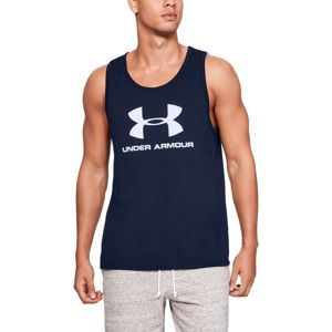 Under Armour Tielko Sportstyle Logo Tank Navy  XL