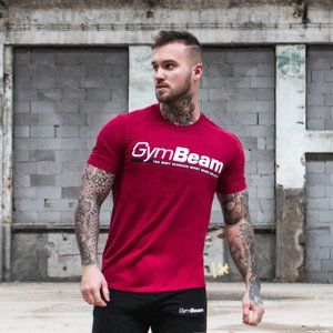 GymBeam Tričko Body and Mind Cardinal Red  XL