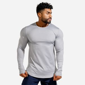 Squat Wolf Long Sleeve Statement Muscle Grey  M