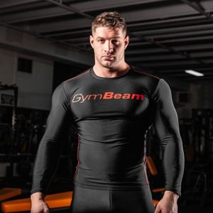 GymBeam Kompresné tričko Black/Red  L