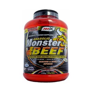 AMIX Anabolic Monster BEEF 90 Protein 2200 g jahoda banán