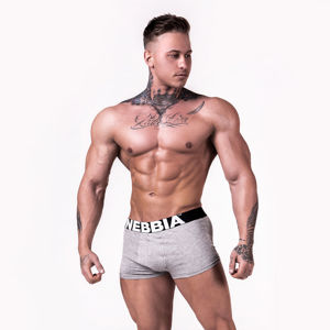NEBBIA Boxerky Light Grey  XXL