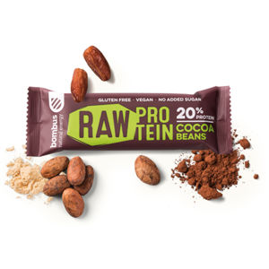 BOMBUS Raw protein bar 50 g cocoa beans