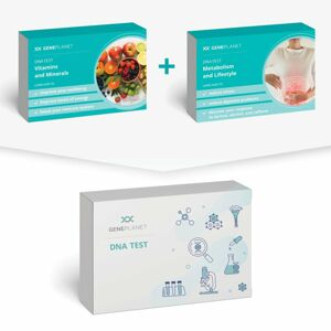 GenePlanet DNA Test Metabolism and Lifestyle + Vitamins and Minerals balíček
