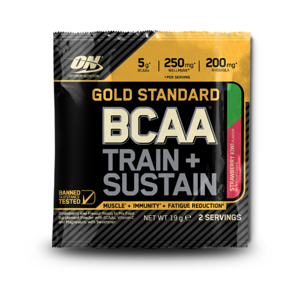Optimum Nutrition Vzroka Gold Standard BCAA Train Sustain 19 g jahoda kiwi