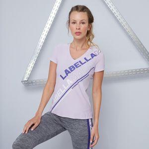 LABELLAMAFIA Dámske tričko Color Block Purple  S